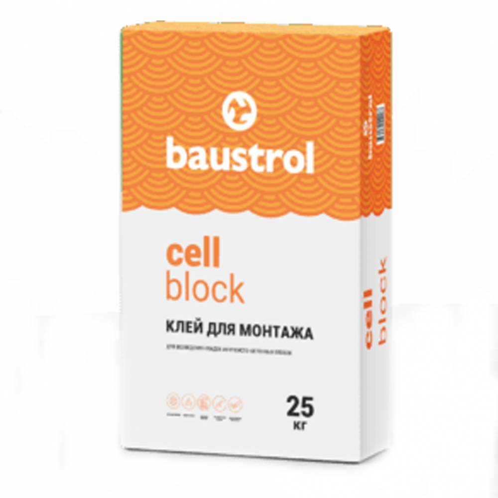 Baustrol cell block - клей для газобетонного блока
