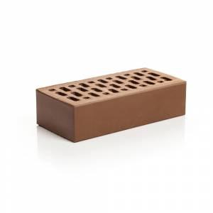Кирпич лицевой керамический, одинарный, клинкерный, пустотелый, цвет шоколад - Магма