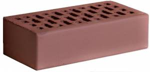 Кирпич керамический гладкий, полуторный, пустотелый, цвет темный шоколад - Кирово-Чепецк