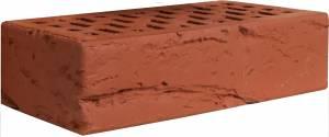 Кирпич керамический декоративный, одинарный, пустотелый, цвет красный, кора - Кирово-Чепецк
