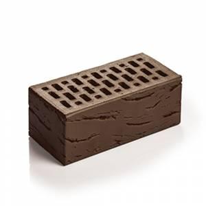 Кирпич лицевой керамический, полуторный, пустотелый, цвет шоколад антик - Магма