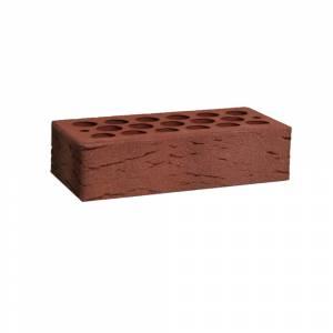Кирпич керамический, пустотелый, одинарный, цвет бордо, поверхность галич с песком- Кощаковский завод