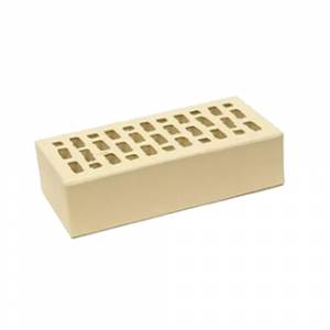 Кирпич керамический, пустотелый, одинарный, цвет слоновая кость, гладкий с фаской - НКЗ (Ярославь)