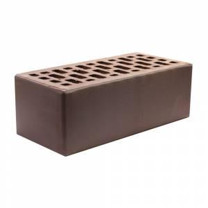 Кирпич керамический, пустотелый, полуторный, цвет коричневый, гладкий с фаской - НКЗ (Ярославь)