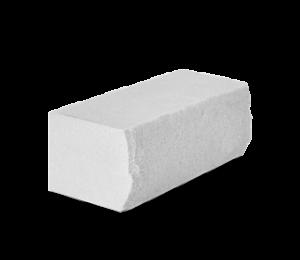 Кирпич силикатный полуторный утолщенный околотый белый (упаковка) - КЗССМ