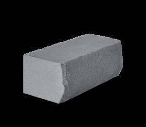 Кирпич силикатный полуторный утолщенный околотый черный (на поддоне) - КЗССМ