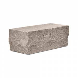 Кирпич силикатный полуторный утолщенный околотый угловой коричневый (упаковка) - КЗССМ