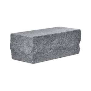 Кирпич силикатный полуторный утолщенный околотый угловой черный (упаковка) - КЗССМ