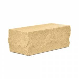 Кирпич силикатный полуторный утолщенный околотый угловой желтый (упаковка) - КЗССМ