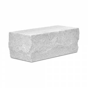 Кирпич силикатный полуторный утолщенный околотый угловой белый (упаковка) - КЗССМ