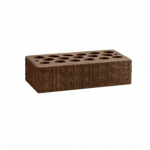 Кирпич керамический, пустотелый, одинарный, цвет шоколад, поверхность бархат - Кощаковский завод