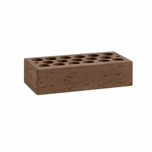 Кирпич керамический, пустотелый, одинарный, цвет шоколад, поверхность рустированная - Кощаковский завод